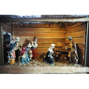 Grote expositie van kerststallen.